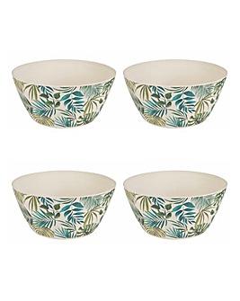 Polynesia Set of 4 Bamboo Bowls