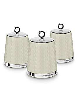 Morphy Richards Dimensions Set of 3 Tea, Coffee, Sugar Canisters
