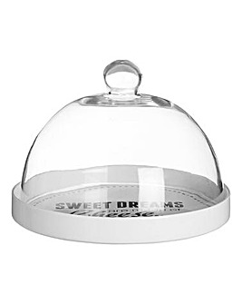 Pun & Games Cheese Board with Glass Dome