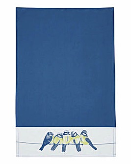 Set of 2 Blue Bird Tea Towels