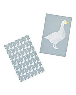 Goose Set of 2 Tea Towels