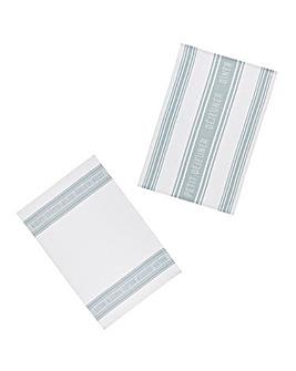 Jacquard Grey Set of 2 Tea Towels