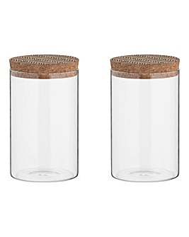Set of 2 Storage Jars