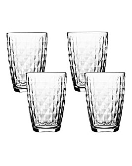 Jewel Sleeve Set of 4 Hi-Ball Glasses