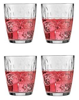 Jewel Sleeve Set of 4 Mixer Glasses