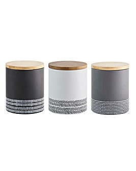 Typhoon Set of 3 Monochrome Canisters