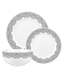 Catherine Lansfield 12 Piece Dinner Set