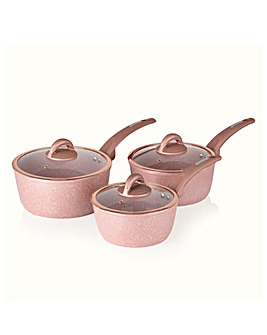 Tower 3 Piece Saucepans Rose Edition