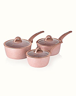Tower 3 Piece Saucepans Rose Pink
