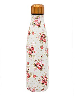 Sass & Belle Vintage Rose Stainless Steel Water Bottle