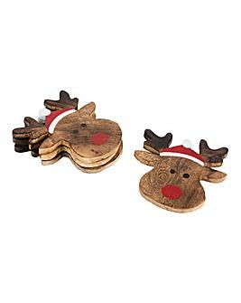Sass & Belle Rudolph Reindeer Coasters