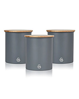 Swan Nordic Set of 3 Canisters