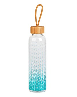 Geo Print Glass Water Bottle 550ml
