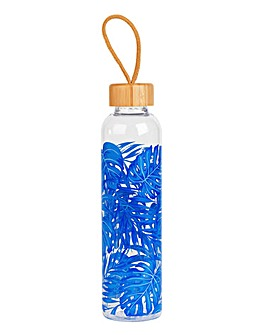 Rainforest Glass Water Bottle with Bamboo lid 750ml