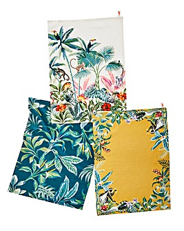Joe Browns Destination Paradise Set of 3 Cotton Tea Towels