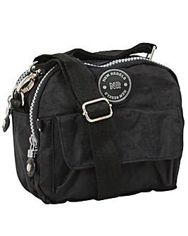 New Rebels Small Crinkle Nylon Mini Crossbody Casual