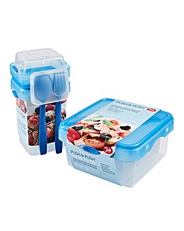 Tala Push & Push Set of 2 Containers