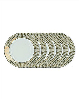 Deco Dreams Set of 6 Gold Side Plates