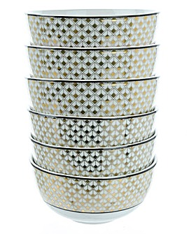 Deco Dreams Set of 6 Gold Bowls