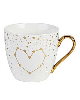 Set of 2 Gold Hearts Stars Kendal Mug