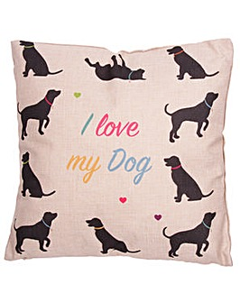 Cushion with Insert - I Love My Dog
