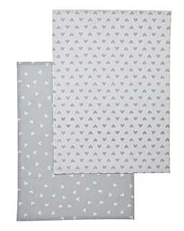 Country Hearts Set of 2 Tea Towels