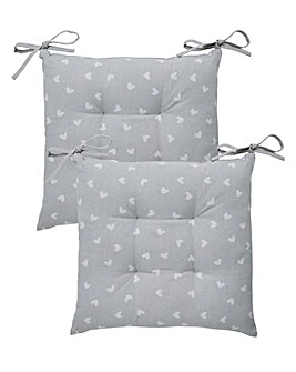Country Hearts Set of 2 Seatpads