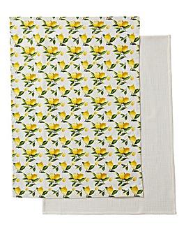 Lemons Set of 2 Tea Towels