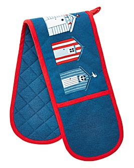 Beach Huts Double Oven Glove