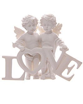 Decorative Pair of LOVE Cherubs