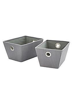 Set of 2 Fabric Storage Boxes