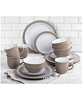 Camden 16 Piece Dinner Set Taupe