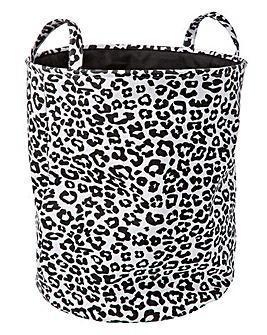 Leopard Print Laundry Basket