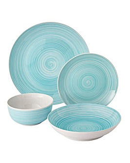 Aqua Spin Wash 16 Piece Dinner Set