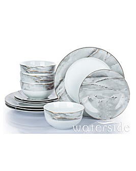 Marble & Gold 12 Piece Dinner Set