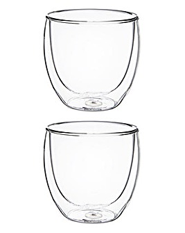 BODUM Pavina 2 Small Glass Mugs