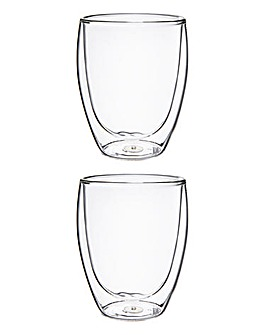 BODUM Pavina 2 Medium Glass Mugs