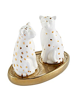 Joe Browns Destination Paradise Leopard Salt & Pepper Set