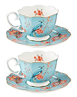 French Blossom Set of 2 Teacups