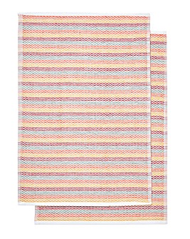 Funky Weave Red Tea Towels Pack of 2