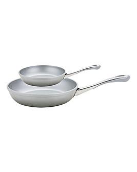 Prestige Prism Silver Frying Pan Set