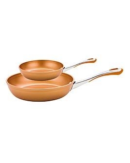 Prestige Prism Copper Frying Pan Set