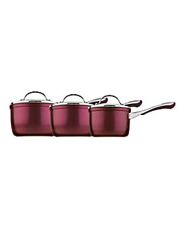 Prestige Prism Purple Saucepan Set