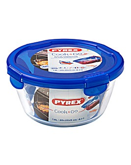 Pyrex Cook&Go Round Glass Roaster with Lid