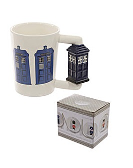 Ceramic Shaped Handle Novelty Mug - Police Box