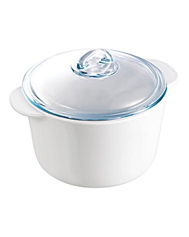 Pyrex Flame Round Casserole Dish 3L