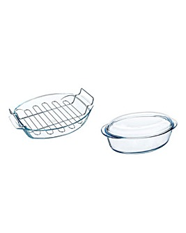 Pyrex Oval Roasting Bundle