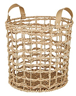 Seagrass Open Weave Basket