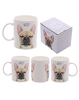 New Bone China Mug - French Bulldog WOOF