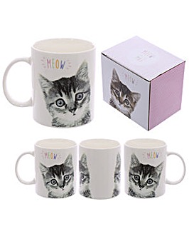 New Bone China Mug - Kitten MEOW